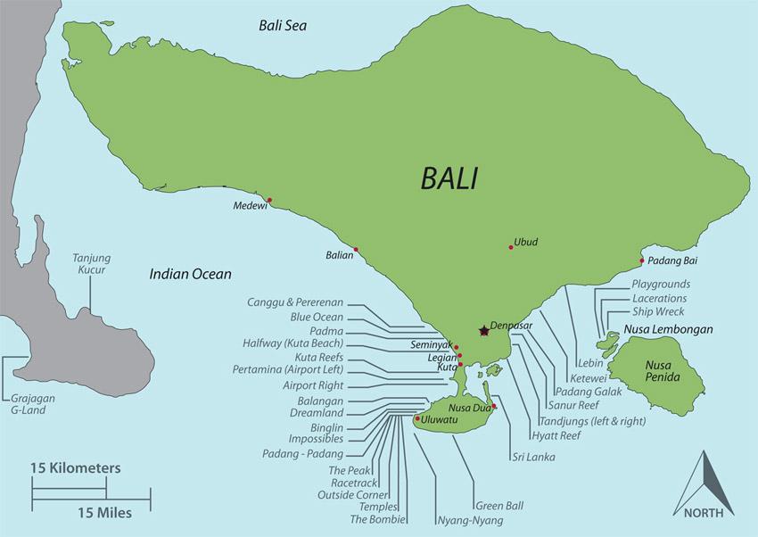 Серфинг в Индонезии - Бали